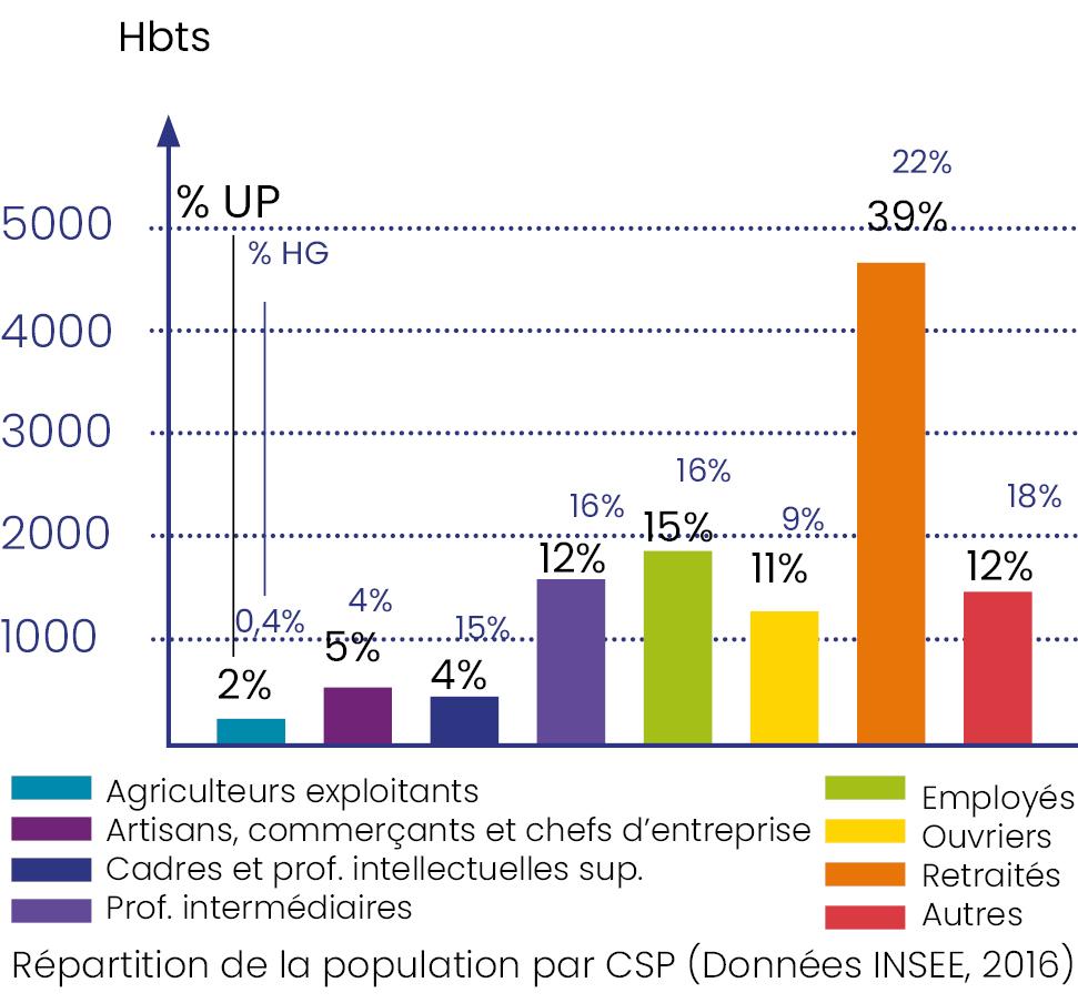 Répartition de la population par CSP